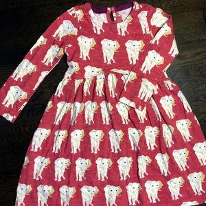 Pink Chicken long sleeve elephant print dress